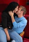 Beso posterior de la fila Foto de archivo libre de regalías