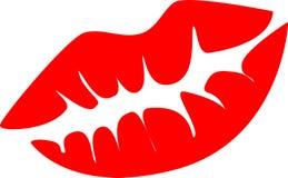 Beso rojo de los labios Imagen de archivo