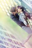 Beso romántico Fotografía de archivo libre de regalías