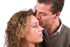 Beso suave Foto de archivo libre de regalías