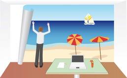 Besoin de vacances Images libres de droits