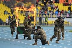 Besondere Kräfte zeigen Training Lizenzfreies Stockbild