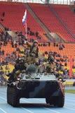 Besondere Kräfte zeigen Training am Stadion Stockfoto