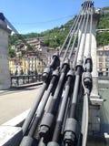 Besonders eine Brücke nach Grenoble stockbild