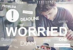 Besorgte Druck-Problem-Prüfung Job Concept Lizenzfreie Stockfotografie