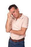 Besorgter deprimierter besorgter Mann Lizenzfreie Stockfotografie