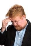 Besorgter deprimierter reifer Mann Stockfotografie
