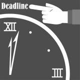 Besorgtes Geschäfts-Fristen-Büro stockbild