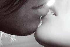Besos de los pares Fotos de archivo