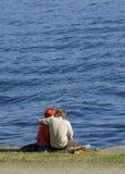 Besos en la costa Imágenes de archivo libres de regalías