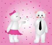 Besos que soplan del oso polar Fotografía de archivo
