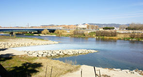 Besos river Rivermouth Stock Photography