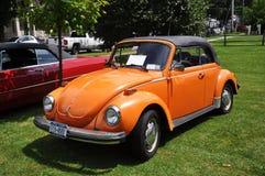 Besouro de Volkswagen na mostra de carro antigo Foto de Stock