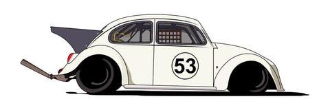 Besouro Herbie 1963 da VW ilustração do vetor