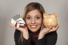 Besparing för hus Fotografering för Bildbyråer
