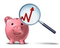 Besparing-groei-grafiek Royalty-vrije Stock Foto