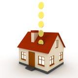 Besparing voor een huis stock illustratie