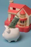 Besparing voor een nieuw huis Stock Afbeeldingen