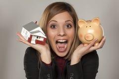 Besparing voor huis Royalty-vrije Stock Afbeeldingen