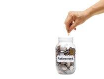 Besparing voor pensionering royalty-vrije stock afbeelding