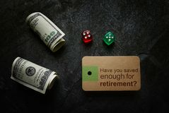 Besparing voor pensionering planning stock fotografie