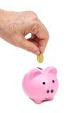 Besparing voor pensioneringsconcept Stock Foto's