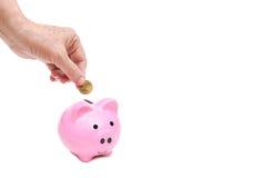 Besparing voor pensioneringsconcept Royalty-vrije Stock Afbeelding
