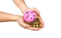 Besparing voor pensioneringsconcept Stock Afbeeldingen