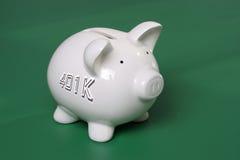 besparingar 401k Arkivfoto