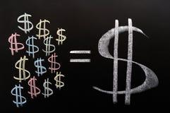 Besparingar av dollar arkivbild