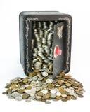 Besparingar drar tillbaka royaltyfria foton