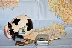 Besparingar för ferier Arkivbild
