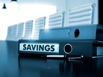 Besparingar på kontorsmapp suddighet bild 3d Arkivbilder