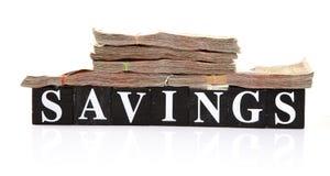 Besparingen Stock Foto