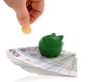 Besparingen en geld Stock Afbeeldingen