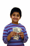Besparingen in geld Stock Foto's