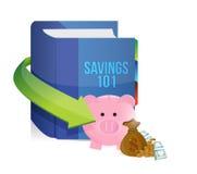 Besparingen 101 het ontwerp van de boekillustratie royalty-vrije illustratie