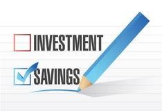Besparingen over het ontwerp van de investeringenillustratie Stock Afbeeldingen