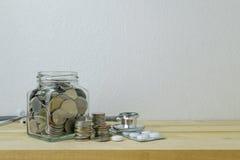 Besparingenplannen voor Gezondheidszorg en Geneeskunde, Stock Afbeeldingen