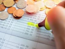 Besparingkontobankbok arkivbilder
