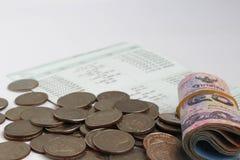 Besparingsgeld - Thailand is een stapel van geld Stock Foto