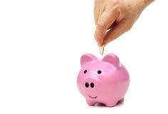 Besparingsgeld voor pensionering stock foto
