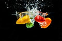 Bespattende Paprika stock afbeeldingen