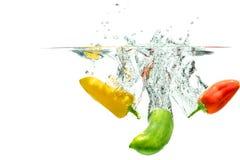 Bespattende Paprika stock afbeelding