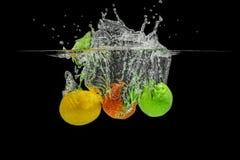 Bespattende Vruchten stock foto's