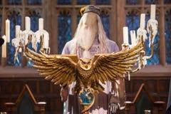 Bespisning av Hogwarts Garneringar för den Harry Potter filmen i Warner Brothers Studio arkivfoton