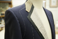 A bespoke suit on a mannequin Royalty Free Stock Photography