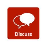Besprechen Sie Ikone für Netz und Mobile Lizenzfreies Stockfoto