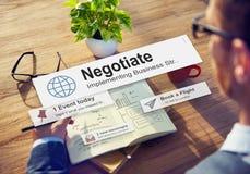 Bespreek Overeenkomstencompromis in overeenstemming brengen Concept Royalty-vrije Stock Afbeeldingen