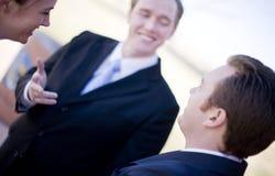 Bespreking businesspeople royalty-vrije stock afbeelding